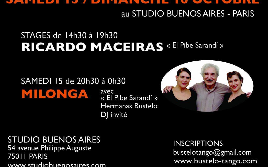 "Stage Ricardo Maceiras ""El Pibe Sarandi"" y Hermanas Bustelo"