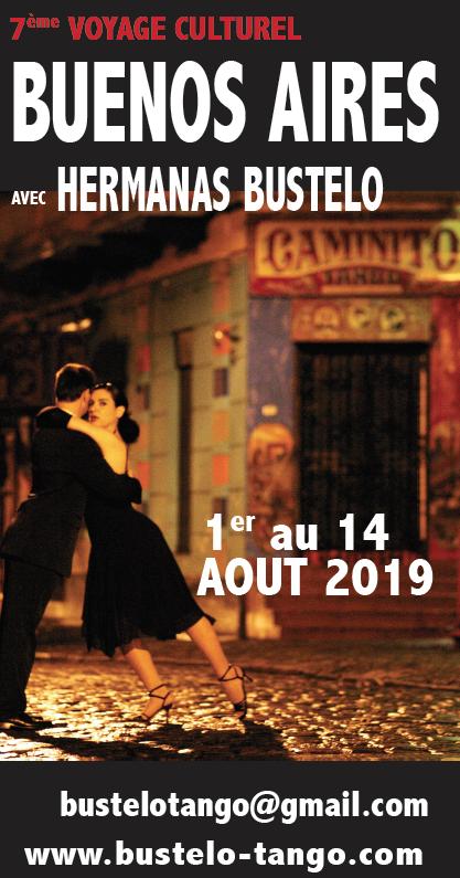 Voyage culturel en Argentine Tango Buenos Aires apprendre le tango cours stages Tango Argentin Hermanas Bustelo Sœurs Bustelo